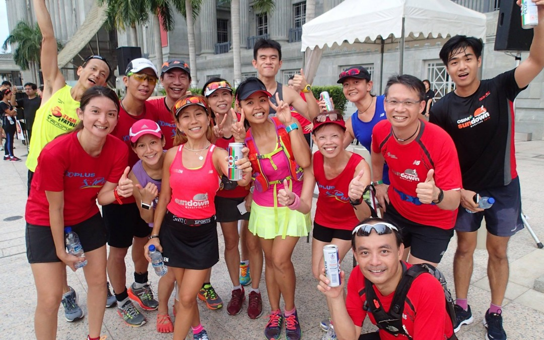 Marathon trainees joining Run @ CarFreeSundaySG