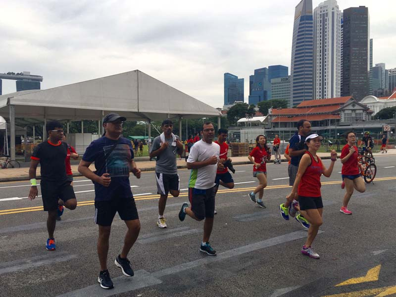Great weather at Run @ CarFreeSundaySG